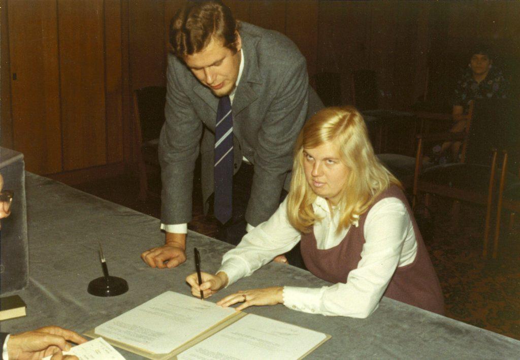 22 oktober 1970 Hans en Quirina Ditzel trouwdag